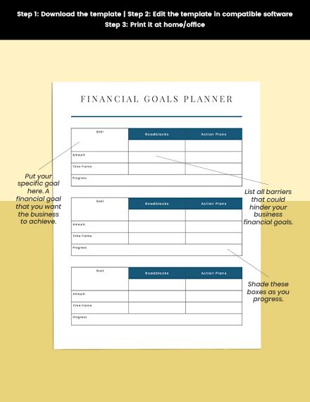 Business Financial Planner Editable