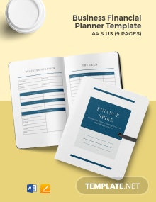 Business Financial Planner Template