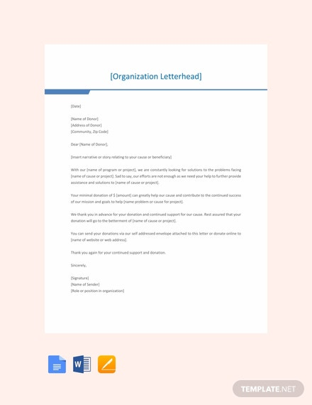 Free Fundraising Letter Template