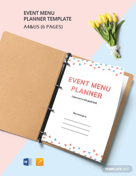 Event Menu Planner Template