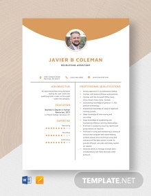 Recruiting Assistant Resume Template