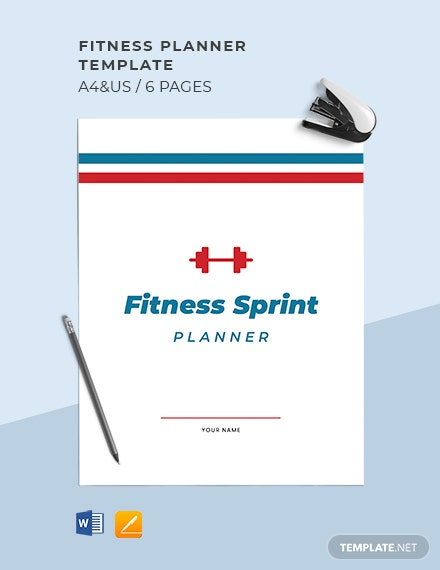 Sample Fitness Planner Template