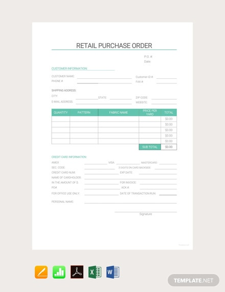 Free-Retail-Purchase-Order-Template