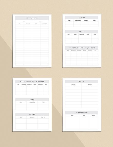 Wedding Reception Planner Download