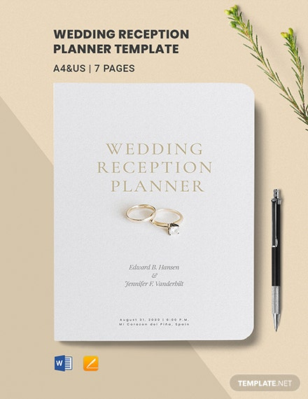 Wedding Reception Planner Template