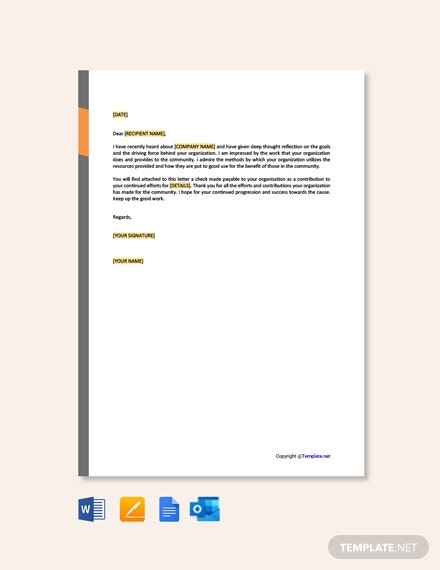 Free Giving Donation Letter Template