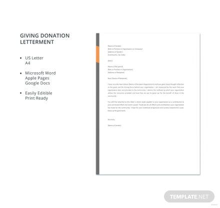 -donation-letter-440x415 Offer Letter Template Exempt on simple employee, executive employment, executive job, employee job, for temp position, business purchase, decline job, employer job, counter proposal, temporary position,