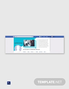 Free Training Center Facebook Cover Page Template