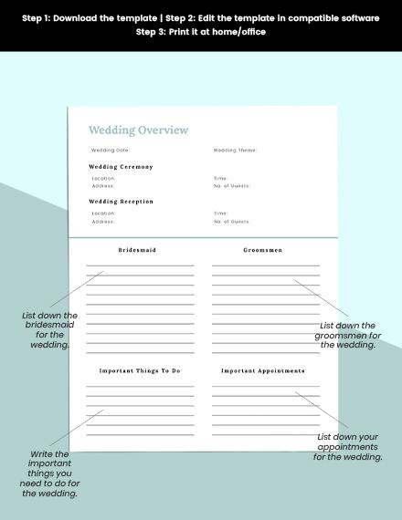 Digital Wedding Planner Download