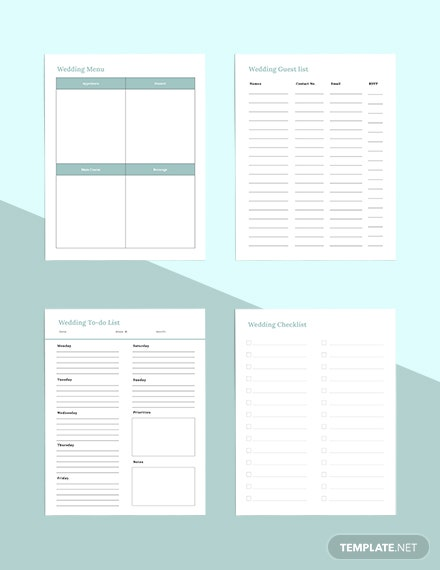 Digital Wedding Planner Sample