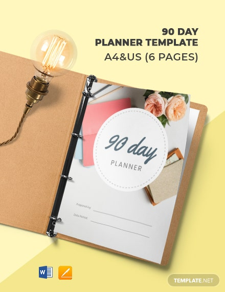 90 Days Planner Template