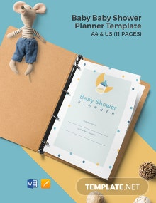 Free Creative Baby Shower Planner Template