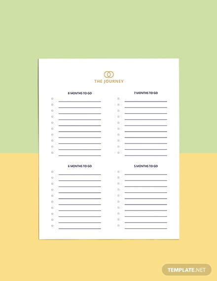 Luxury Wedding Planner Template Editable