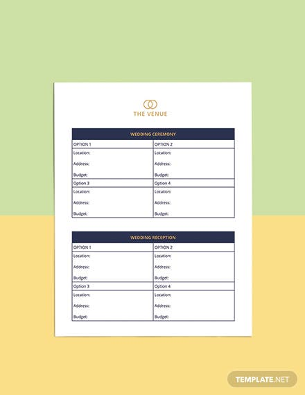Luxury Wedding Planner Template Format
