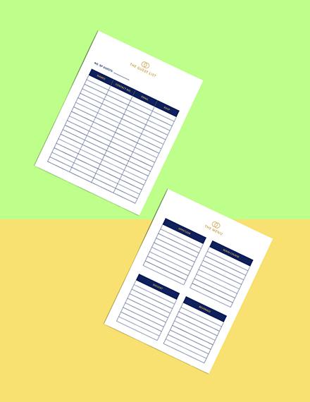 Luxury Wedding Planner Template Printable