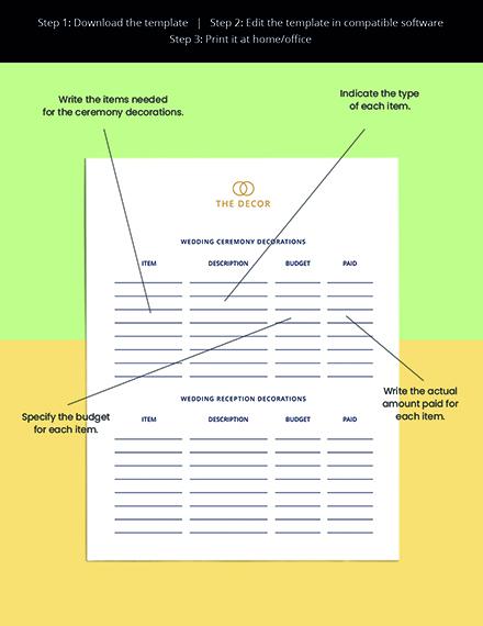 Luxury Wedding Planner Template Sample