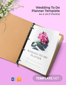 Wedding To Do Planner Template
