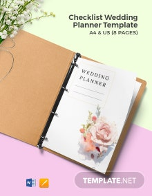 Free Basic Checklist Wedding Planner Template