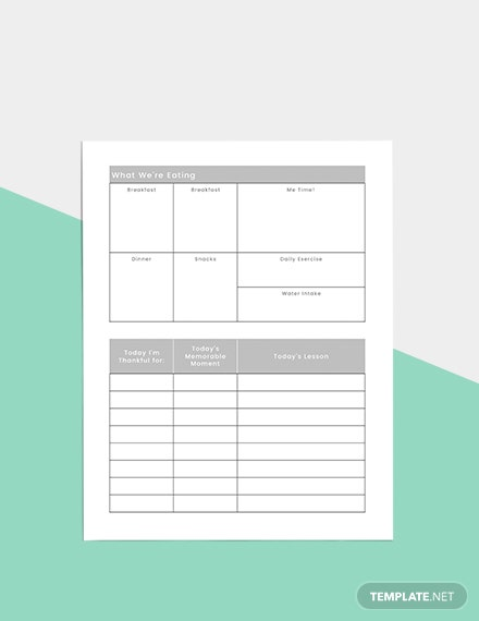 Basic Daily Planner Format