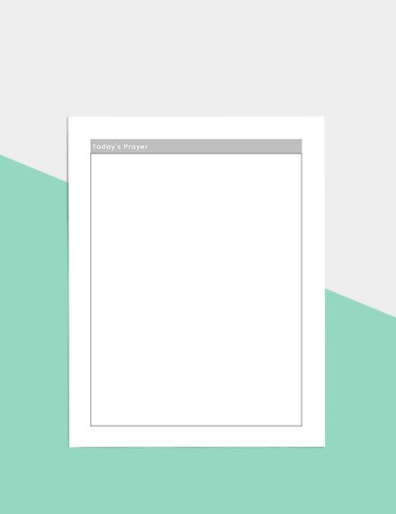 Basic Daily Planner Sample