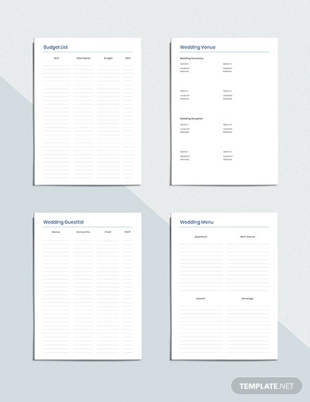 Wedding To do Planner Download