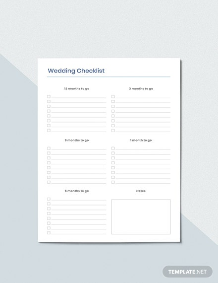 Wedding To do Planner Sample