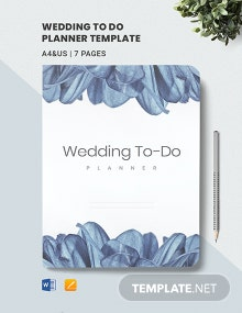 Free Sample Wedding To Do Planner Template