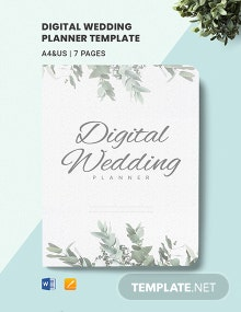 Free Sample Digital Wedding Planner Template