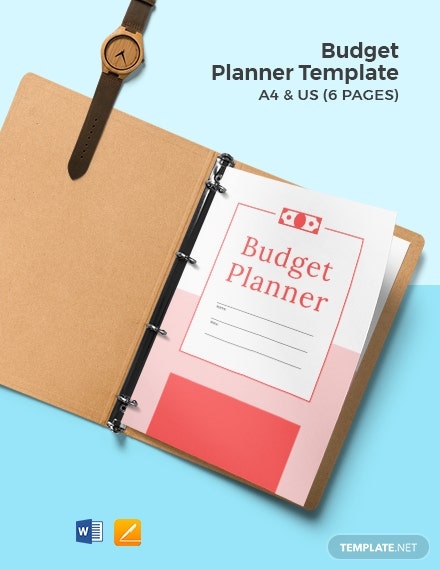 Free Sample Budget Planner Template