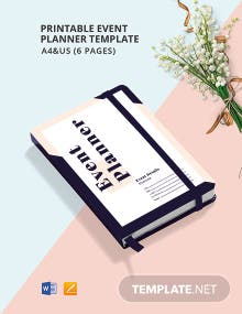 Printable Event Planner Template