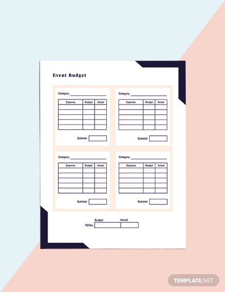 Printable Event Planner template Download
