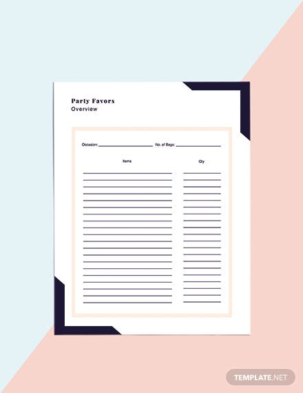 Printable Event Planner template Example