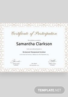 Free blank participation certificate template in psd ms word blank certificate of participation template yadclub Image collections