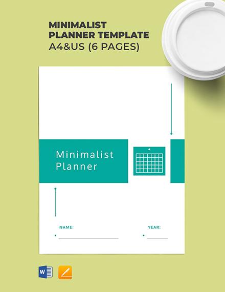 Free Minimalist Planner Template