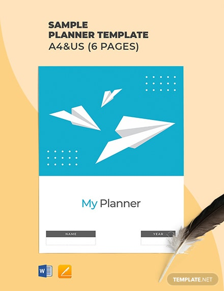 Free Sample Planner Template