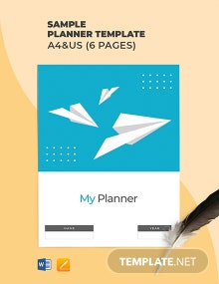 Free Sample Planner Template