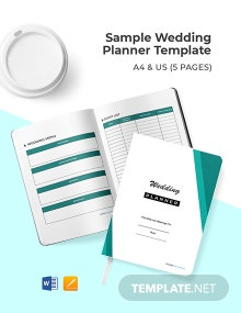 Free Sample Wedding Planner Template