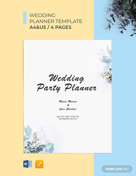 Wedding Party Planner Template