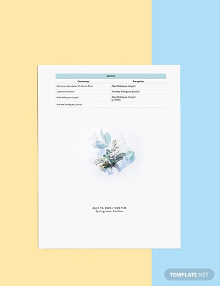 Wedding Party Planner Printable