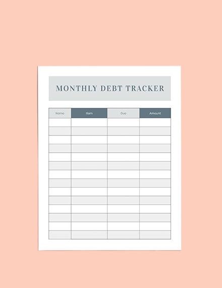 Debt Planner Printable