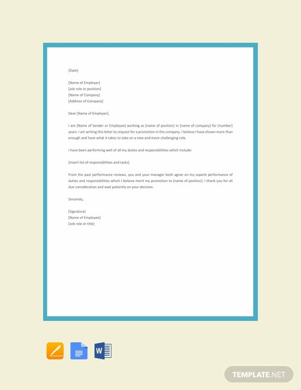 Free Employee Promotion Letter Template