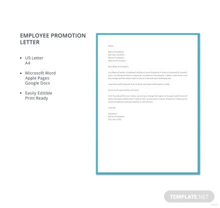 Employee promotion letter template download 700 letters in word employee promotion letter template altavistaventures Gallery