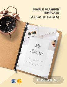Free Simple Planner Template