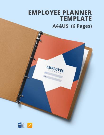 Employee Planner Template