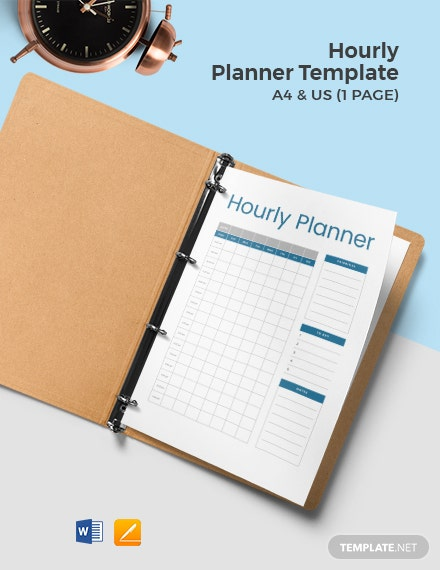 Free Sample Hourly Planner Template