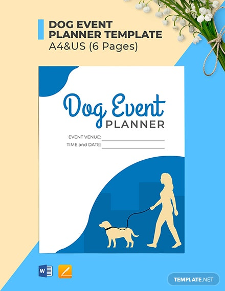 Dog Event Planner Template