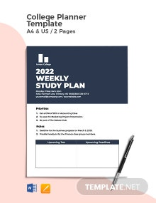 College Planner Template