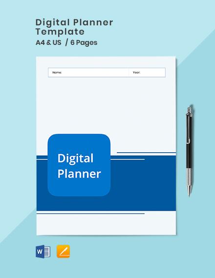 Digital Planner Template