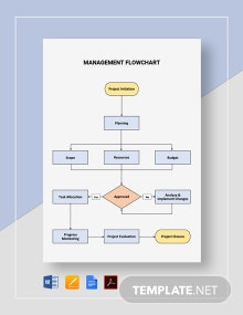 Management Flowchart Template