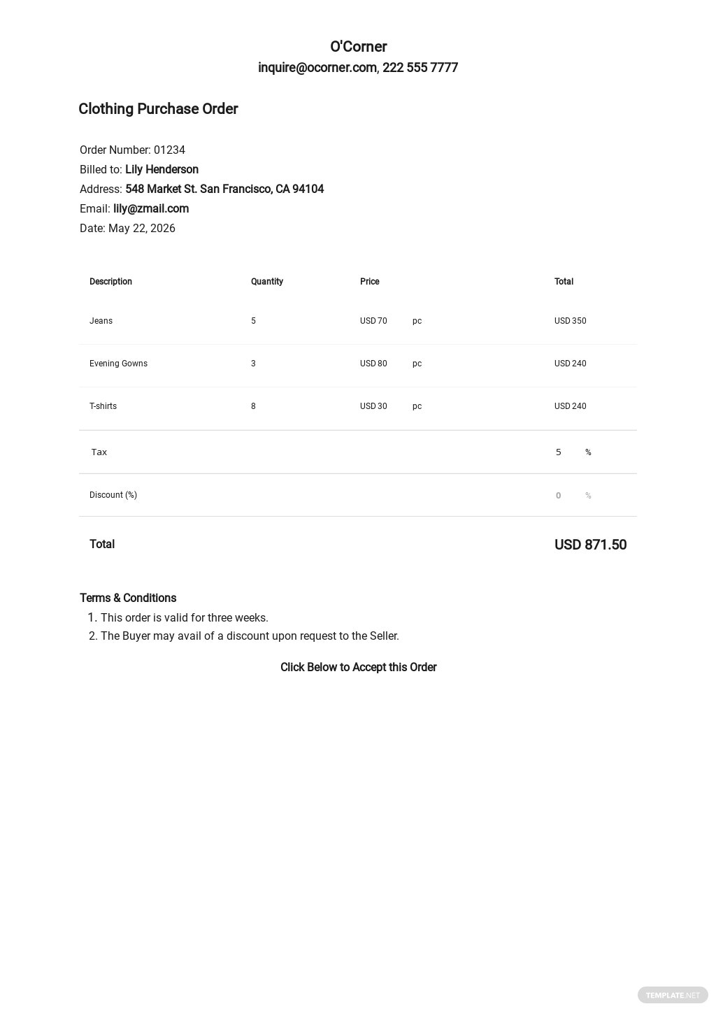 Free Standard Purchase Order Template.jpe
